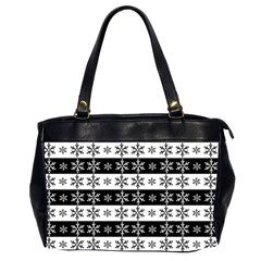 Snowflakes   Christmas Pattern Office Handbags (2 Sides)  by Valentinaart