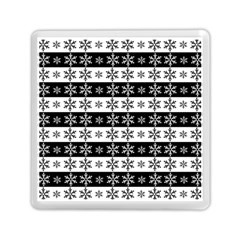 Snowflakes   Christmas Pattern Memory Card Reader (square)  by Valentinaart