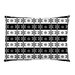 Snowflakes   Christmas Pattern Pillow Case (two Sides) by Valentinaart
