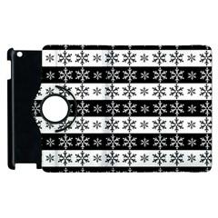 Snowflakes   Christmas Pattern Apple Ipad 2 Flip 360 Case by Valentinaart