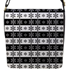 Snowflakes   Christmas Pattern Flap Messenger Bag (s) by Valentinaart