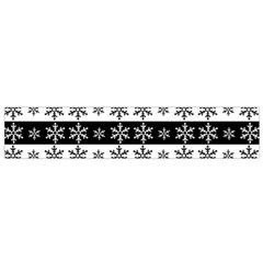 Snowflakes   Christmas Pattern Small Flano Scarf by Valentinaart