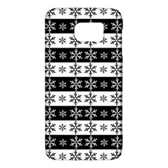 Snowflakes   Christmas Pattern Galaxy S6 by Valentinaart