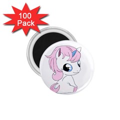 Baby Unicorn 1 75  Magnets (100 Pack)  by Valentinaart
