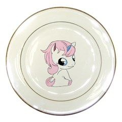 Baby Unicorn Porcelain Plates by Valentinaart