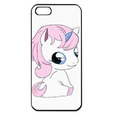 Baby Unicorn Apple Iphone 5 Seamless Case (black) by Valentinaart