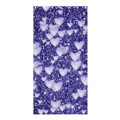 Hearts On Sparkling Glitter Print, Blue Shower Curtain 36  X 72  (stall)  by MoreColorsinLife