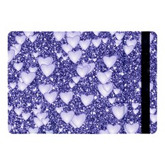 Hearts On Sparkling Glitter Print, Blue Apple Ipad Pro 10 5   Flip Case by MoreColorsinLife