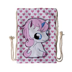 Baby Unicorn Drawstring Bag (small) by Valentinaart