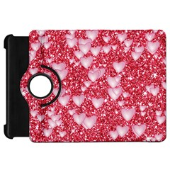 Hearts On Sparkling Glitter Print, Red Kindle Fire Hd 7  by MoreColorsinLife