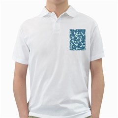 Hearts On Sparkling Glitter Print, Teal Golf Shirts by MoreColorsinLife