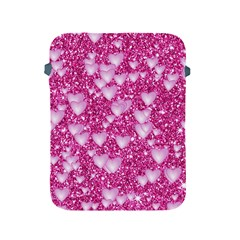 Hearts On Sparkling Glitter Print, Pink Apple Ipad 2/3/4 Protective Soft Cases by MoreColorsinLife
