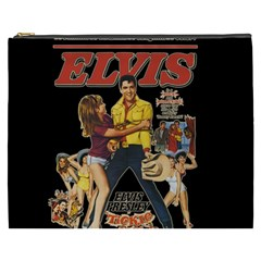 Elvis Presley Cosmetic Bag (xxxl)  by Valentinaart