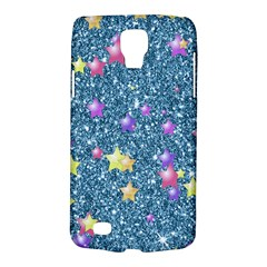 Stars On Sparkling Glitter Print, Blue Galaxy S4 Active by MoreColorsinLife