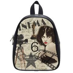 Vintage Cinema School Bag (small) by Valentinaart