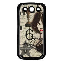 Vintage Cinema Samsung Galaxy S3 Back Case (black) by Valentinaart