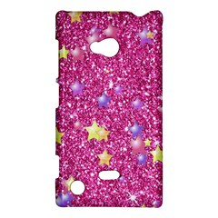 Stars On Sparkling Glitter Print,pink Nokia Lumia 720 by MoreColorsinLife