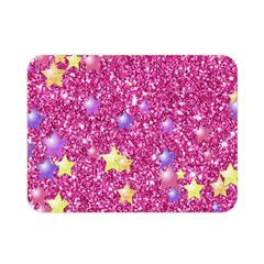 Stars On Sparkling Glitter Print,pink Double Sided Flano Blanket (mini)  by MoreColorsinLife