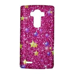 Stars On Sparkling Glitter Print,pink Lg G4 Hardshell Case by MoreColorsinLife