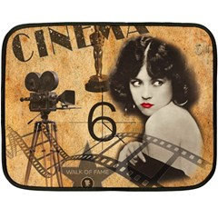 Vintage Cinema Fleece Blanket (mini) by Valentinaart