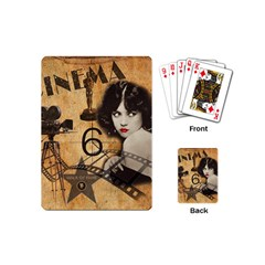 Vintage Cinema Playing Cards (mini)  by Valentinaart