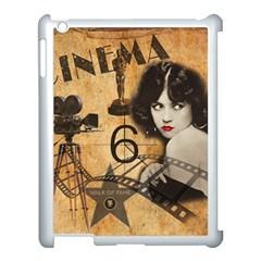 Vintage Cinema Apple Ipad 3/4 Case (white) by Valentinaart
