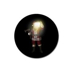 Santa Killer Magnet 3  (round) by Valentinaart