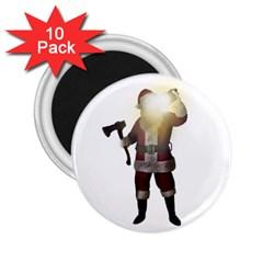 Santa Killer 2 25  Magnets (10 Pack)  by Valentinaart