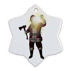 Santa Killer Ornament (snowflake) by Valentinaart