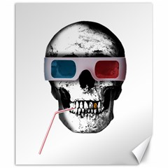 Cinema Skull Canvas 20  X 24   by Valentinaart