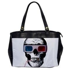 Cinema Skull Office Handbags by Valentinaart