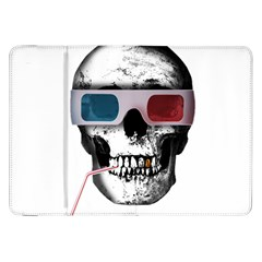 Cinema Skull Samsung Galaxy Tab 8 9  P7300 Flip Case by Valentinaart