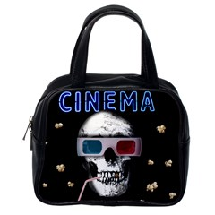 Cinema Skull Classic Handbags (one Side) by Valentinaart