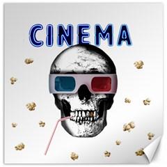 Cinema Skull Canvas 16  X 16   by Valentinaart