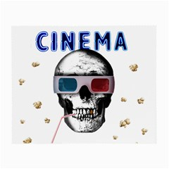 Cinema Skull Small Glasses Cloth (2 Side) by Valentinaart