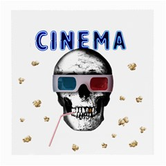Cinema Skull Medium Glasses Cloth (2 Side) by Valentinaart