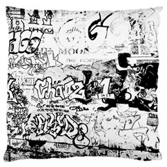 Graffiti Large Flano Cushion Case (two Sides) by Valentinaart