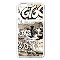 Graffiti Apple Iphone 6 Plus/6s Plus Enamel White Case by Valentinaart