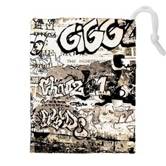 Graffiti Drawstring Pouches (xxl) by Valentinaart