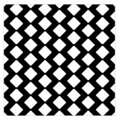 Abstract Tile Pattern Black White Triangle Plaid Large Satin Scarf (square) by Alisyart