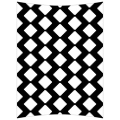 Abstract Tile Pattern Black White Triangle Plaid Back Support Cushion by Alisyart