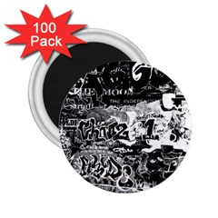 Graffiti 2 25  Magnets (100 Pack)  by Valentinaart
