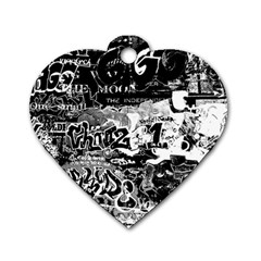 Graffiti Dog Tag Heart (one Side) by Valentinaart