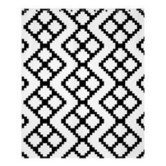 Abstract Tile Pattern Black White Triangle Plaid Chevron Shower Curtain 60  X 72  (medium)  by Alisyart