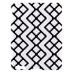 Abstract Tile Pattern Black White Triangle Plaid Chevron Apple Ipad 3/4 Hardshell Case by Alisyart