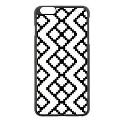 Abstract Tile Pattern Black White Triangle Plaid Chevron Apple Iphone 6 Plus/6s Plus Black Enamel Case by Alisyart