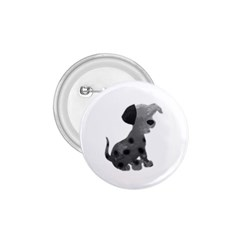 Dalmatian Inspired Silhouette 1 75  Buttons