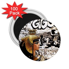 Cleopatra 2 25  Magnets (100 Pack)  by Valentinaart