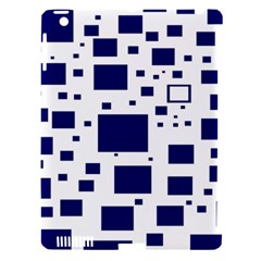 Blue Squares Textures Plaid Apple Ipad 3/4 Hardshell Case (compatible With Smart Cover) by Alisyart