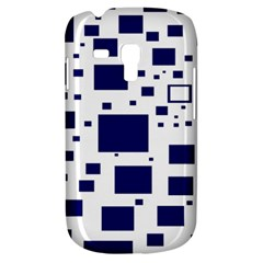 Blue Squares Textures Plaid Galaxy S3 Mini by Alisyart